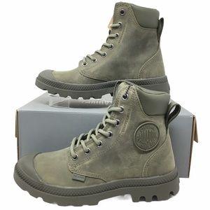 Palladium Unisex Leather Olive Night Boots 3.5M/5W